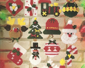 christmas cuties in plasic canvas