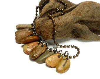 Peach Quartz River Rock Beads Jewelry Pebble Stone Small Dangle Charms Eco Friendly Mix Natural Country Western Cowgirl RODEO