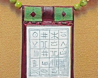 Tuareg Magic Square Talisman on Leather