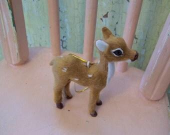 sweet little velour fur deer
