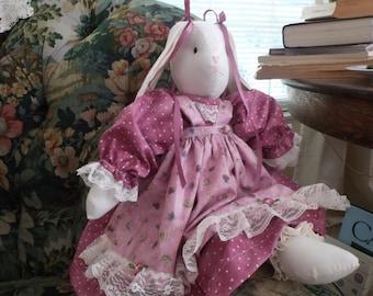 A   Stuffed Bunny Rabbit  ,, Violet