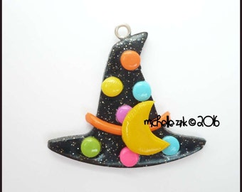 Polymer Clay Witch Hat Charm Pendant