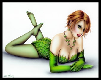 Poison Ivy Pin-Up Signed 8x10 Print