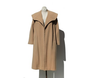 Large Collar Wool and Cashmere Coat