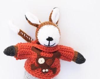 Handmade knitted dog, knitted dog, stuffed animal, soft children's toy, knitted toy, dog soft toy, plush dog toy, baby gift, soft toys
