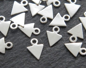 Sterling Silver Triangle Charm 8mm (CG8669)
