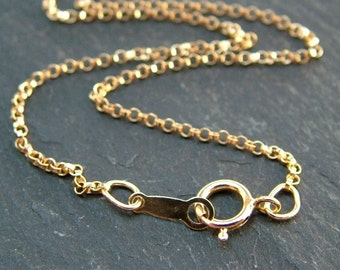 20 Inch 14K Gold Filled Rolo Chain Necklace (CG6620b)