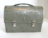 RESERVED Vintage Metal Lunch Box With Thermos American Thermos Products