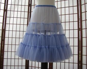 Petticoat Periwinkle Chiffon -- Custom Order