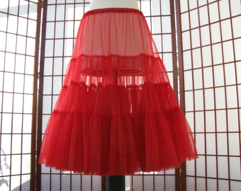 Petticoat Red Chiffon -- Custom Order