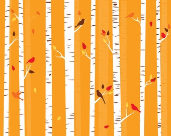 Fall trees clip art birch tree clipart autumn birds seasonal wreaths woodland forest woods bark commercial use leaves leafy trees birdies