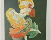 PRINT SALE 20% OFF Vintage 1971 Art Nouveau Folies Bergere La Loie Fuller, Dancer, Poster Illustration Bookplate Print for Framing