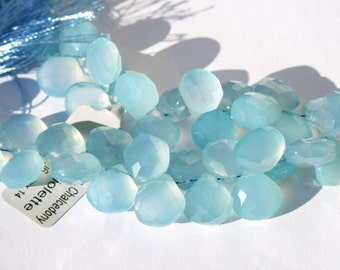 CHALCEDONY Faceted Briolette 10-12mm
