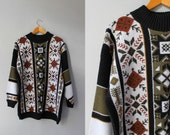 Vintage Sweater / 1960s Sweater / Vintage 60s 70s Winter Sweater