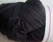 Hand-Dyed Yarn in Black Hole Colourway 4ply Superwash BFL Sturdy Base