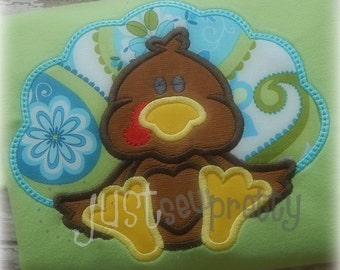 Sweet Baby Turkey Embroidery Applique Design
