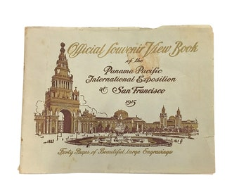 1915 San Francisco Panama Pacific Expo Viewers Guide, Antique California Worlds Fair Ephemera