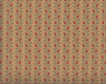 Moda Gratitude 38006 17 Vines with Red Pods on Vintage Tan by the yard