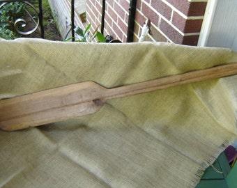 Vintage Wooden Paddle Large Cooking Paddle Stirring Paddle Handmade Paddle Gumbo Paddle 1970s