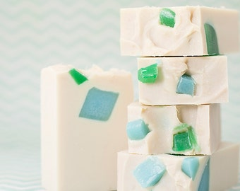 Sea Glass & Linen NEW Handmade Soap with Shea Butter and Coconut Milk