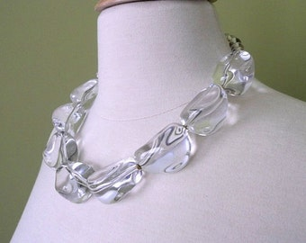 SEA SPRAY Clear statement necklace
