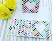 Mini Heart Cards Multi Stripes Collection Set of 9