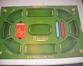 Vintage Tripoley Card Game Board 100% Complete