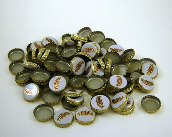 90 Virgil's Bottle Caps White Red and Gold