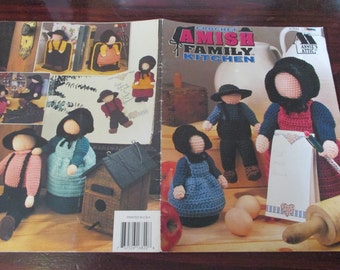 Doll Crocheting Patterns Amish Family Kitchen Dolls Annie's Attic 87P82 Crochet Pattern Leaflet