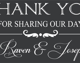Thank You Custom Wedding Decoration Wall Art in Words Stickers Vinyl lettering Decals