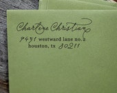 Self Inking Stamp, Custom Address Stamp, Return Address Stamp, Wedding address stamp, Self Inking Address Stamp, Wedding Gift, Custom - 1046