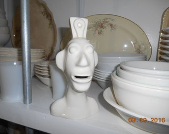 Vintage Pottery face of a man or native marked Adrian Originals