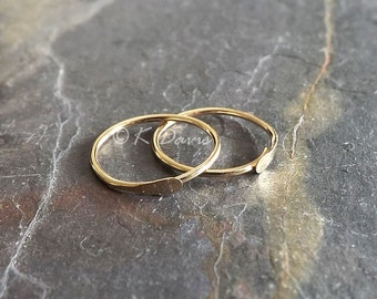 Solid Gold Sleeper Earring Hoop, Endless Hoops, 14k Gold Open Hoop, Small Gold Earrings, choose your size gift for her, womens