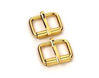 "20pcs - 1/2"" Roller Pin Belt Buckles - Gold - Free Shipping (ROLLER BUCKLE RBK-101)"