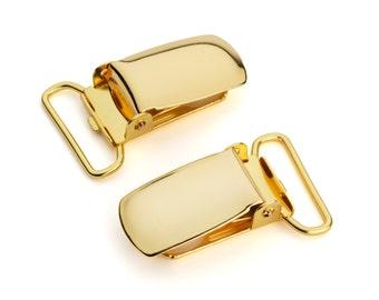 "50pcs - 3/4"" Suspender Clip - Gold - Free Shipping (SUSPENDER CLIP SPN-109)"