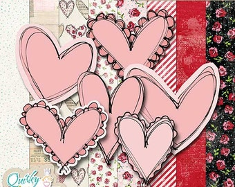 Whimsical Hearts Layered Stamp Kit