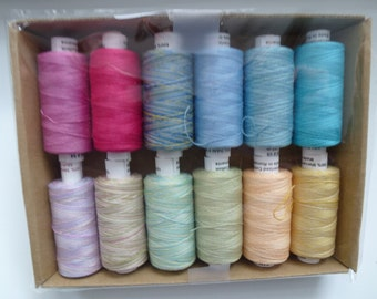 "Valdani 100% Cotton Thread 60wt, 274y each 12 spools - ""Spring"" Collection"