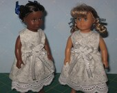 Holiday dress made to fit 6-1/2 inch Mini  American Girl Doll