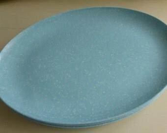 Vintage Mid Century Oval Turquoise Melamine Platter