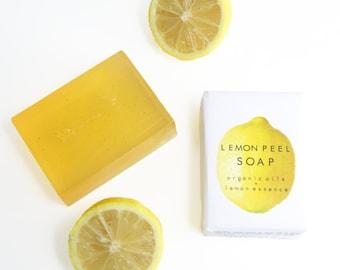 Lemon Peel Soap/ Organic Soap/ Lemon Soap/ Handmade Soap