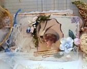 UNFORGETABBLE Mixed Media Altered Romantic Shabby Chic Style Art Junk Journal OOAK