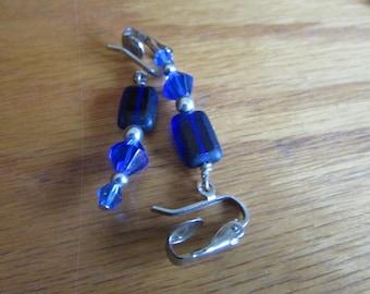 Colbalt blue glass clips