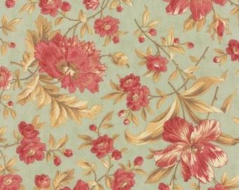Quilting Cotton fabric   3 Sisters Larkspur   Mist Garden Blooms 44100 14