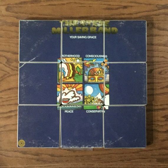 The STEVE MILLER BAND recycled Your Saving Grace album coasters with record bowl