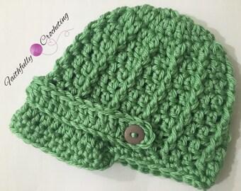 Newborn newsboy hat.. Brim hat.. Photo prop.. Ready to ship