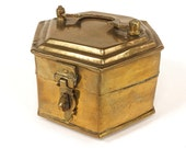 VTG. Cricket Box. golden brass shrine stash trinket box vanity set dressing table organizer accessory. FOUNDbyLB
