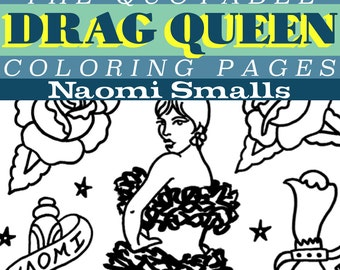 naomi smalls mini coloring collection instant download pdf 2 pages ru pauls drag race season