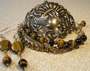 Golden Girl Art Nouveau Cuff