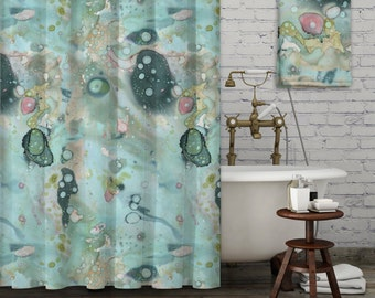 black and turquoise shower curtain. Abstract Bathroom Set Organic Blue Art Accessories Shower  Curtain Bath Mat shower curtain Etsy