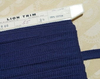 "Vintage Blue Trim - Blue Woven Braid Bias Tape - 5/8"" - 5 Yards"